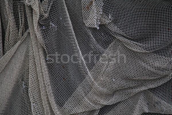 古い 漁網 壁 抽象的な 海 ドア ストックフォト © dmitriisimakov