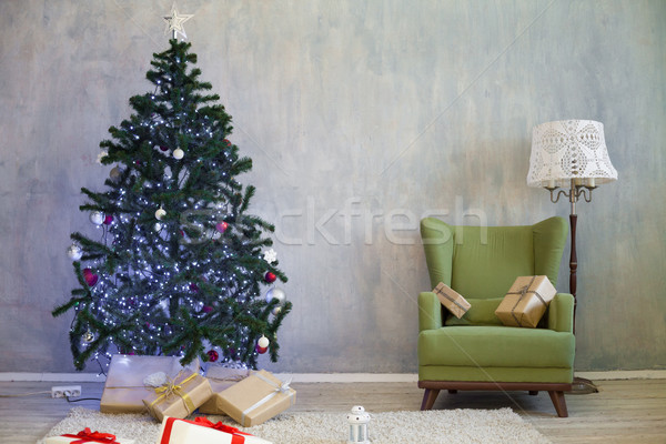 Christmas tree with presents home for the new year Stock photo © dmitriisimakov
