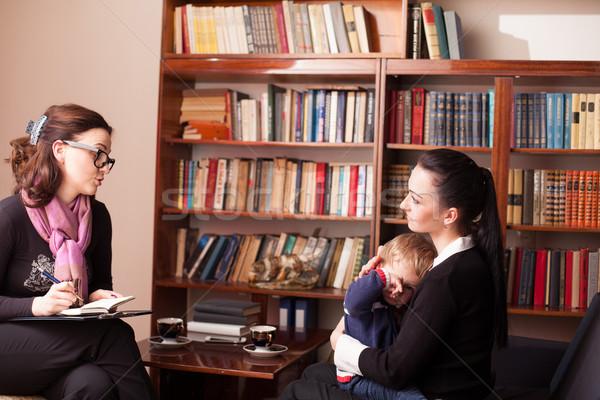 ребенка психолог матери семьи ребенка друзей Сток-фото © dmitriisimakov