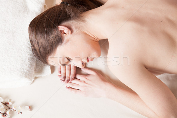 beautiful girl Massage Spa lies on the table Stock photo © dmitriisimakov