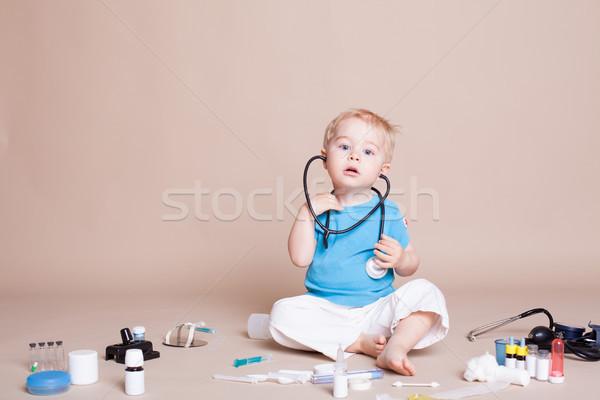 мальчика играет врач больницу служба медицинской Сток-фото © dmitriisimakov