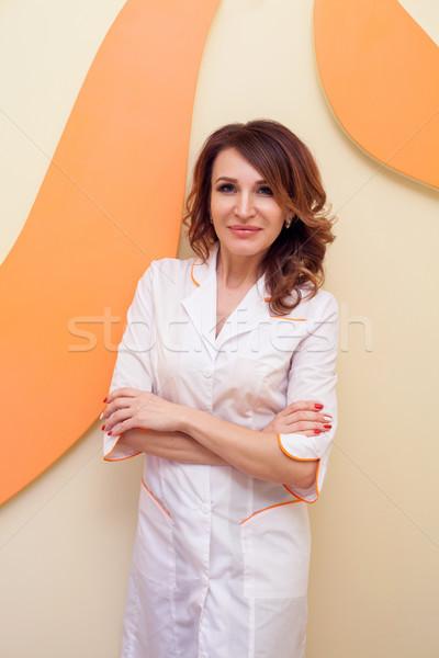 Portrait of a woman doctor cosmetologist Stock photo © dmitriisimakov