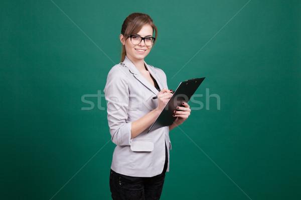 ビジネス女性 秘書 フォルダ 証券 教師 少女 ストックフォト © dmitriisimakov