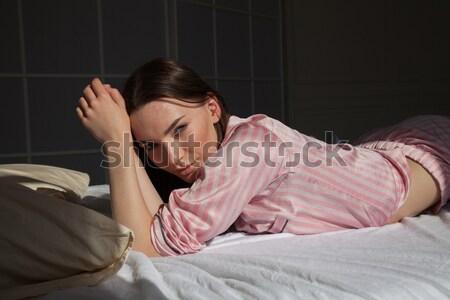 美人 ランジェリー ベッド 少女 ファッション ボディ ストックフォト © dmitriisimakov