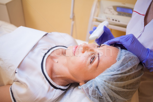 the doctor makes a woman patient procedures on face Spa Stock photo © dmitriisimakov