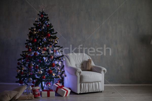 Natal decoração árvore de natal grinalda projeto casa Foto stock © dmitriisimakov
