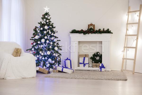 クリスマスツリー 装飾 白 ルーム ツリー ストックフォト © dmitriisimakov