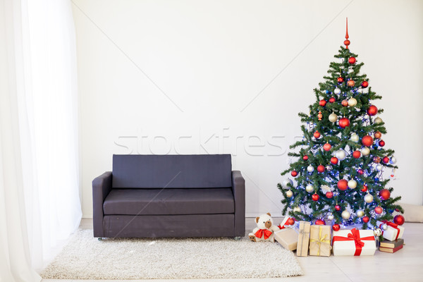Christmas tree in the House for Christmas Interior Stock photo © dmitriisimakov