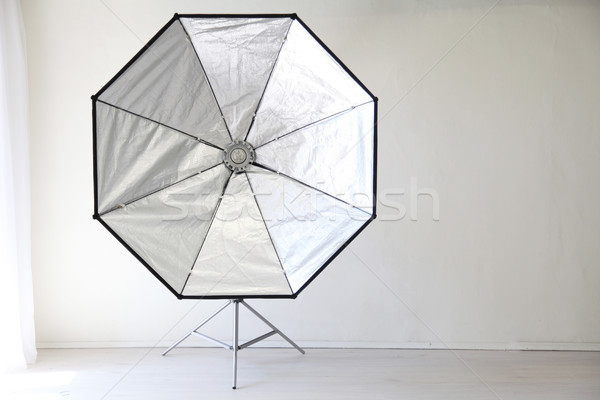Flash on a white background in the Photo Studio equipment Stock photo © dmitriisimakov