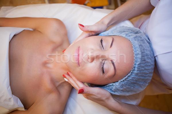 Doktor masaj kız spa yüz sağlık Stok fotoğraf © dmitriisimakov