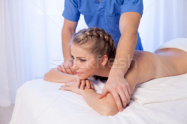 девушки массажист массаж Spa здоровья тело Сток-фото © dmitriisimakov