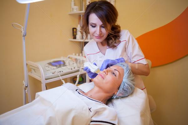 Doktor kadın yüzü temizlik kadın tıbbi Stok fotoğraf © dmitriisimakov