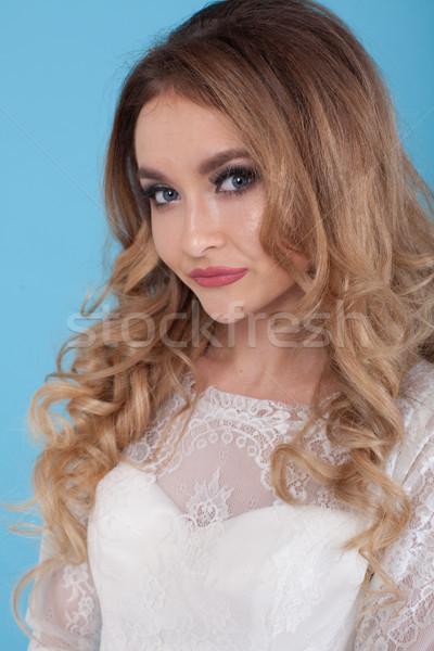 красивой невеста прическа волос украшение Nice Сток-фото © dmitriisimakov
