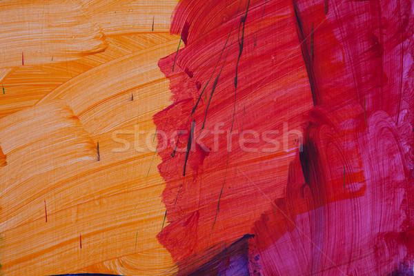 Pintado parede abstrato padrão desenho textura Foto stock © dmitriisimakov