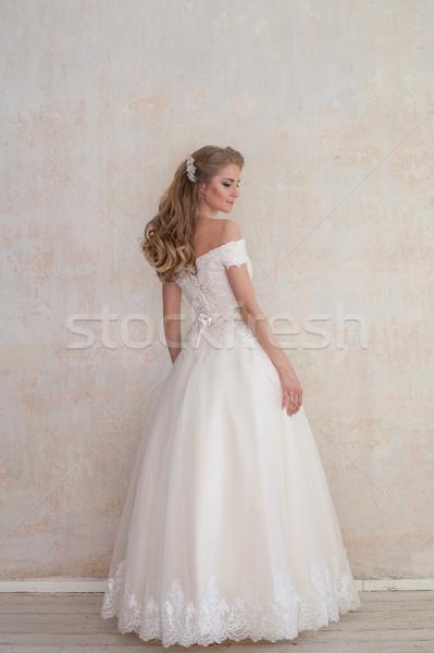 Сток-фото: невеста · свадьба · белый · подвенечное · платье · любви · моде