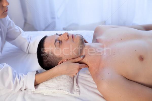 男性 マッサージ師 マッサージ スパ 健康 手 ストックフォト © dmitriisimakov