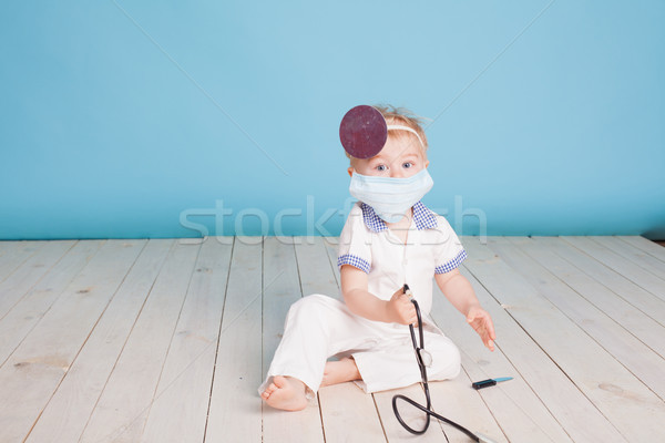 мало мальчика врач больницу ребенка улыбка Сток-фото © dmitriisimakov