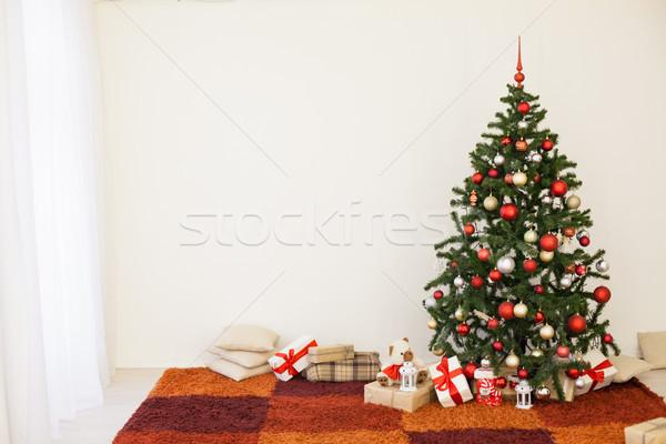 Lakberendezés karácsony új év ház boldog otthon Stock fotó © dmitriisimakov