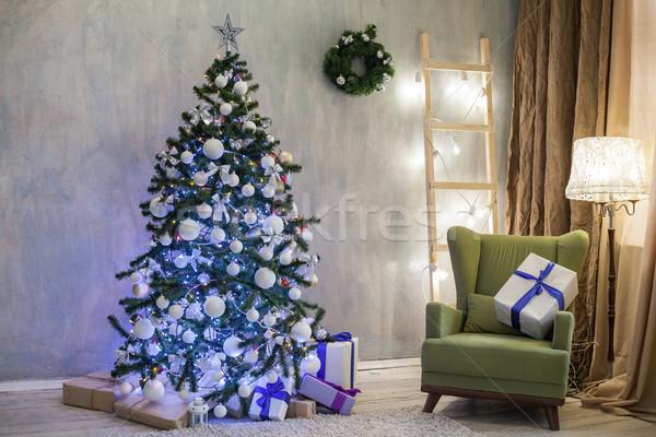 Noel tatil noel ağacı hediyeler ağaç Stok fotoğraf © dmitriisimakov