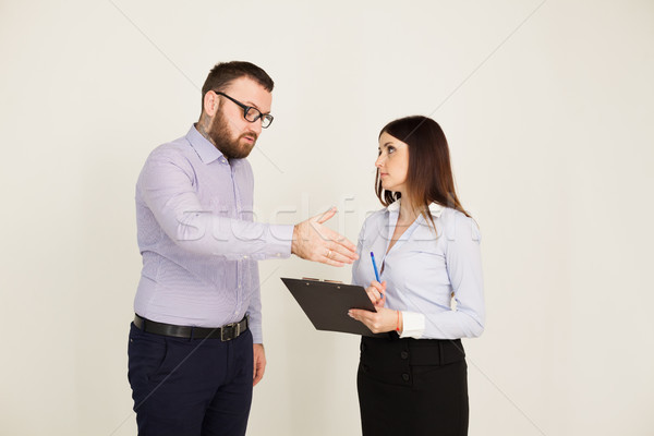 Coaching tasking boss and woman Stock photo © dmitriisimakov