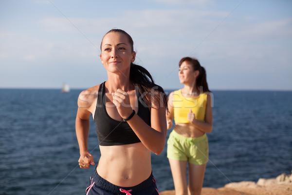 女の子 再生 スポーツ ジョグ ビーチ 女性 ストックフォト © dmitriisimakov