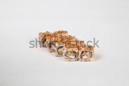 Zdjęcia stock: Japońskie · jedzenie · sushi · ryb · biały · żywności