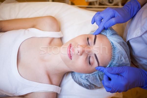 Doktor masaj kız spa adam sağlık Stok fotoğraf © dmitriisimakov