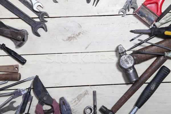 Construção ferramentas reparar chave de fenda três de um tipo teclas Foto stock © dmitriisimakov