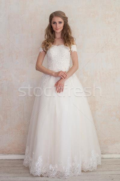 Novia boda blanco vestido de novia amor moda Foto stock © dmitriisimakov