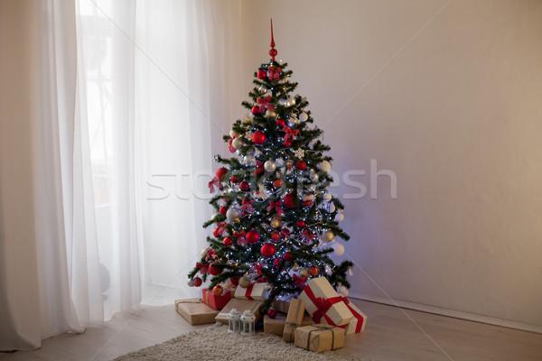Новый год рождественская елка подарки Рождества счастливым Сток-фото © dmitriisimakov