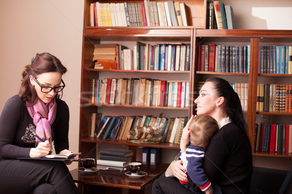 child psychologist the mother with child Stock photo © dmitriisimakov