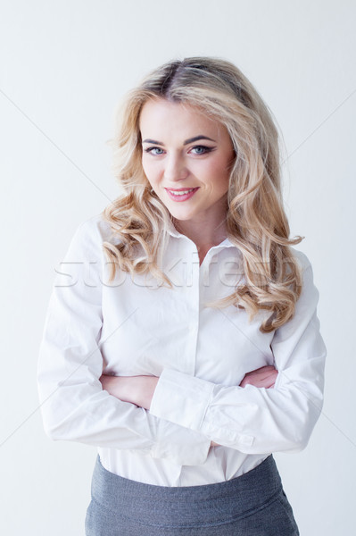 Portrait of a beautiful blonde girl Stock photo © dmitriisimakov