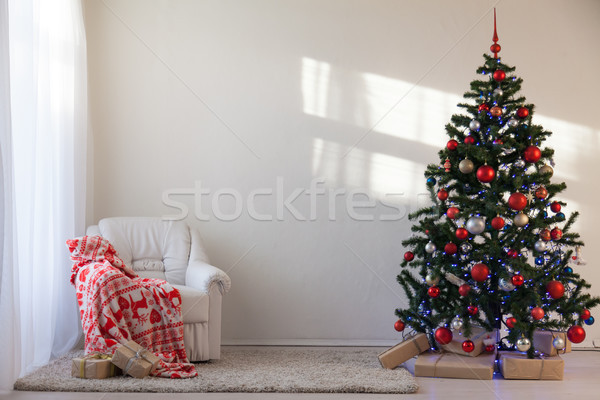 Christmas tree with Christmas gifts in White Hall on Christmas Stock photo © dmitriisimakov