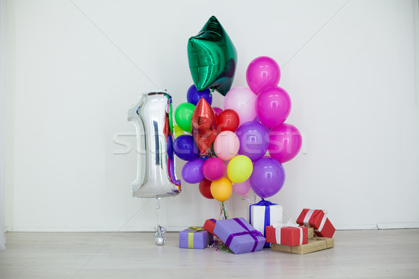 multi-colored balloons and gifts for the holiday Stock photo © dmitriisimakov