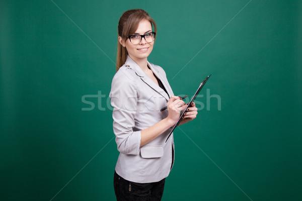 деловой женщины секретарь папке ценные бумаги учитель девушки Сток-фото © dmitriisimakov