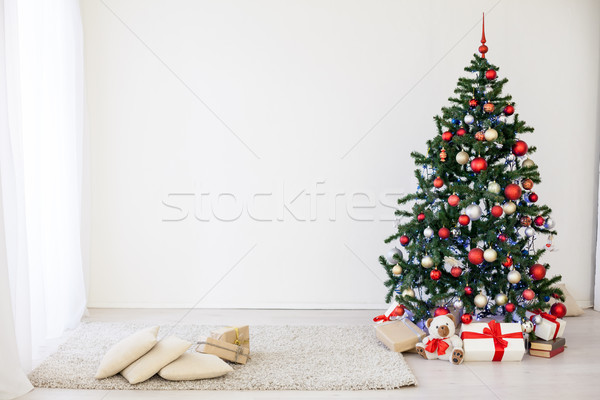 рождественская елка белый зале Рождества дизайна домой Сток-фото © dmitriisimakov
