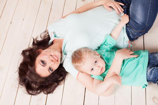 Anne oğul oynamak aile Stok fotoğraf © dmitriisimakov