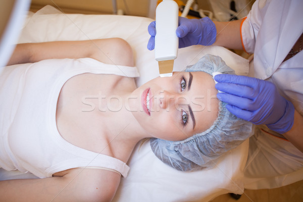 Cosmetology procedures on the face shine Spa Stock photo © dmitriisimakov
