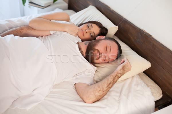 человека женщину спальный спальня семьи любви Сток-фото © dmitriisimakov