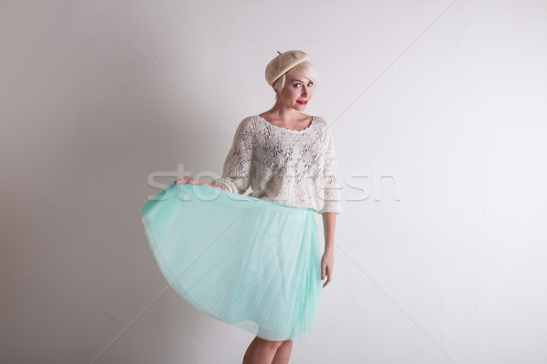 Portrait of a woman in a beret and bright clothes Stock photo © dmitriisimakov