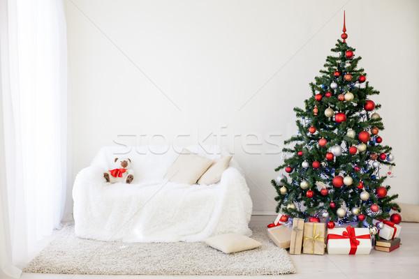 Christmas tree in the House for Christmas Interior Stock photo © dmitriisimakov