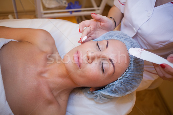 a woman at a cosmetologist in Spa Stock photo © dmitriisimakov
