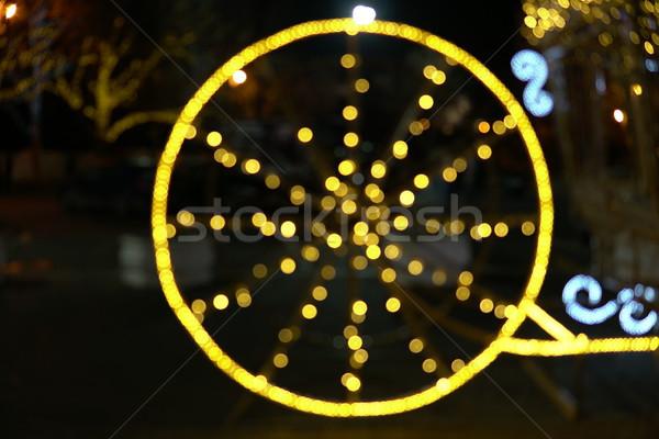 Bokeh lights antique wheel new year new christmas Stock photo © dmitriisimakov