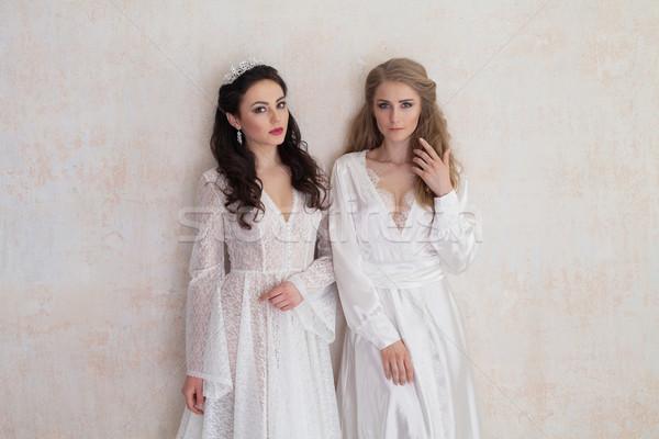 Iki gelinler düğün esmer Stok fotoğraf © dmitriisimakov