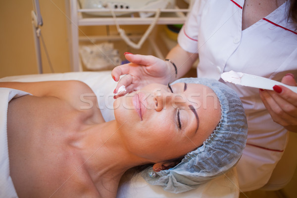 Cosmetology treatments on face moisturizer Stock photo © dmitriisimakov