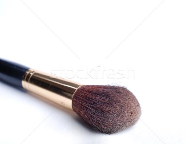 Escove pincéis de maquiagem make-up branco isolado beleza Foto stock © dmitroza