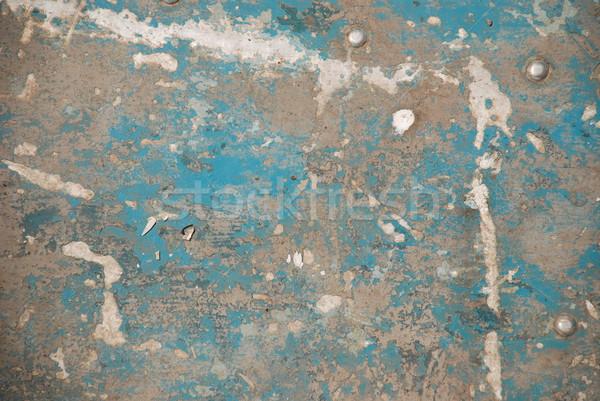 Grunge metaal textuur gebarsten Blauw kleur metaal Stockfoto © dmitroza