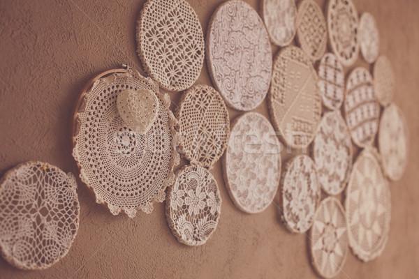Knitting cute laces  Stock photo © dmitroza