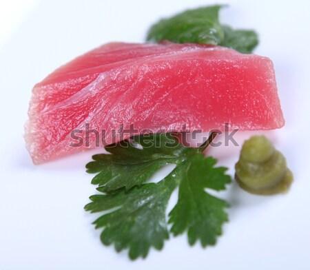 Fresco atum bom carne branco comida Foto stock © dmitroza