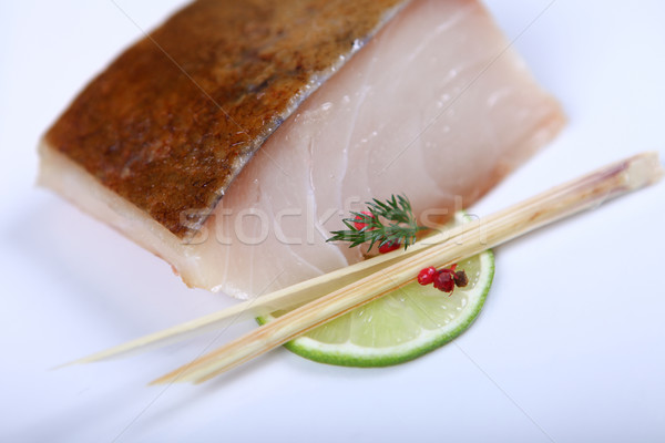 Fresh white fish Stock photo © dmitroza